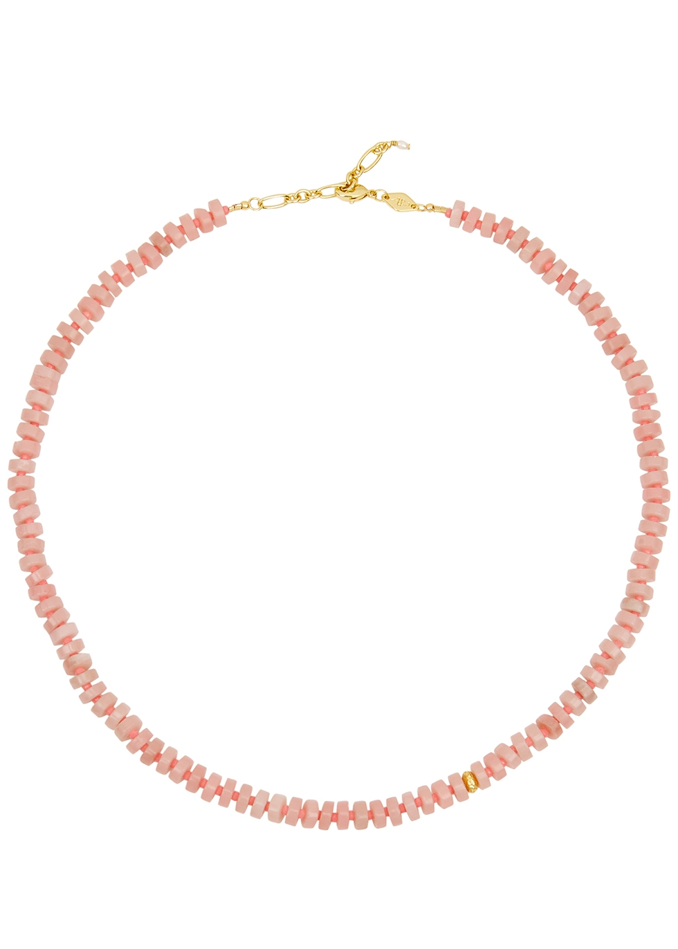 The Big Pink beaded necklace