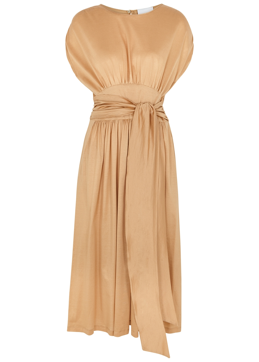 Luana sand cotton midi dress