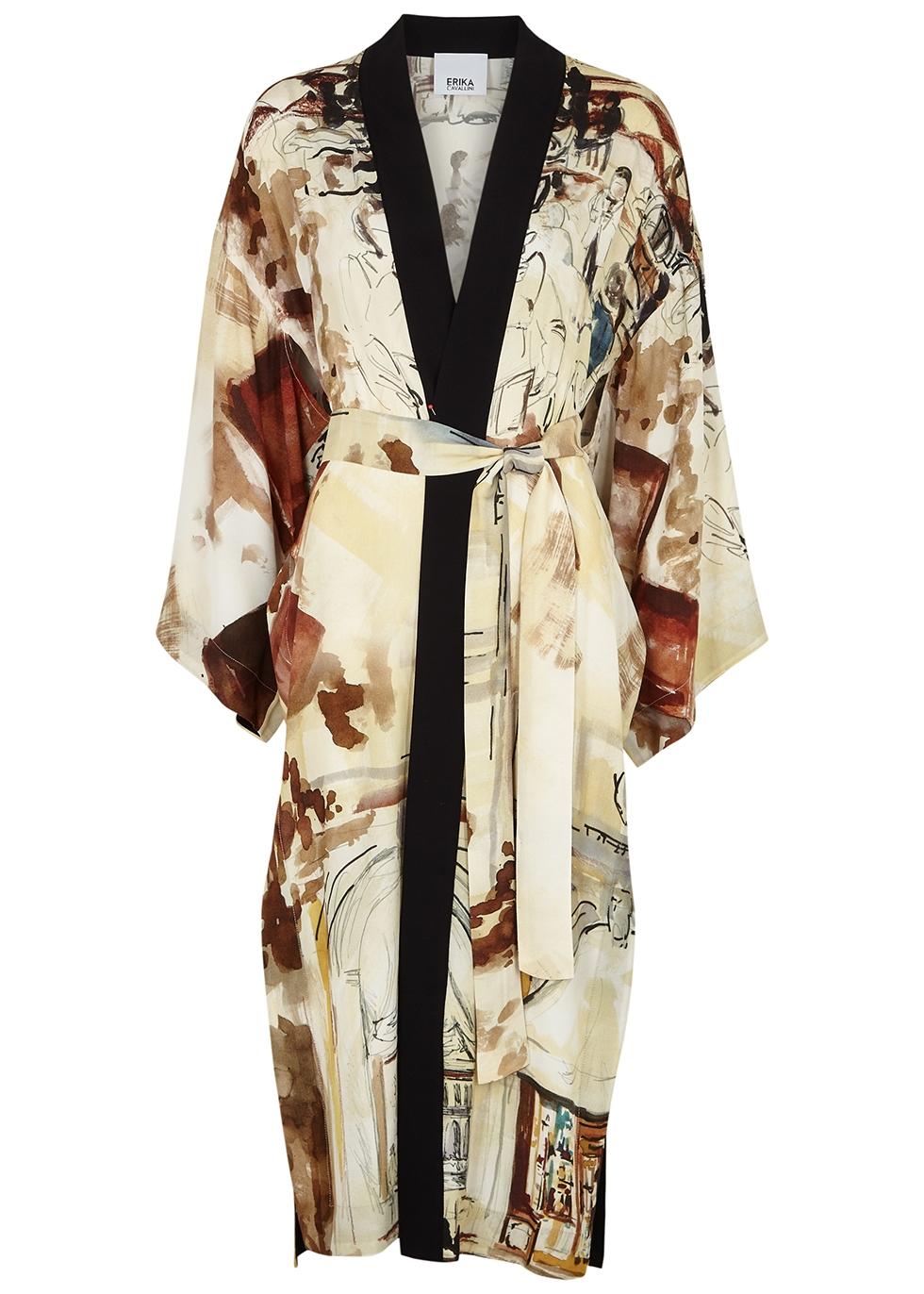 Dunia printed kimono