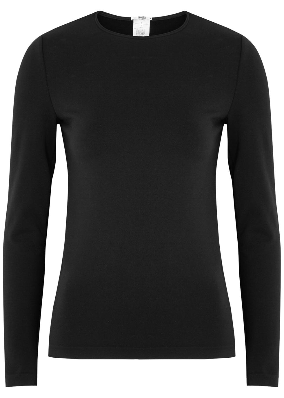 Velvet Sensation black stretch-jersey top
