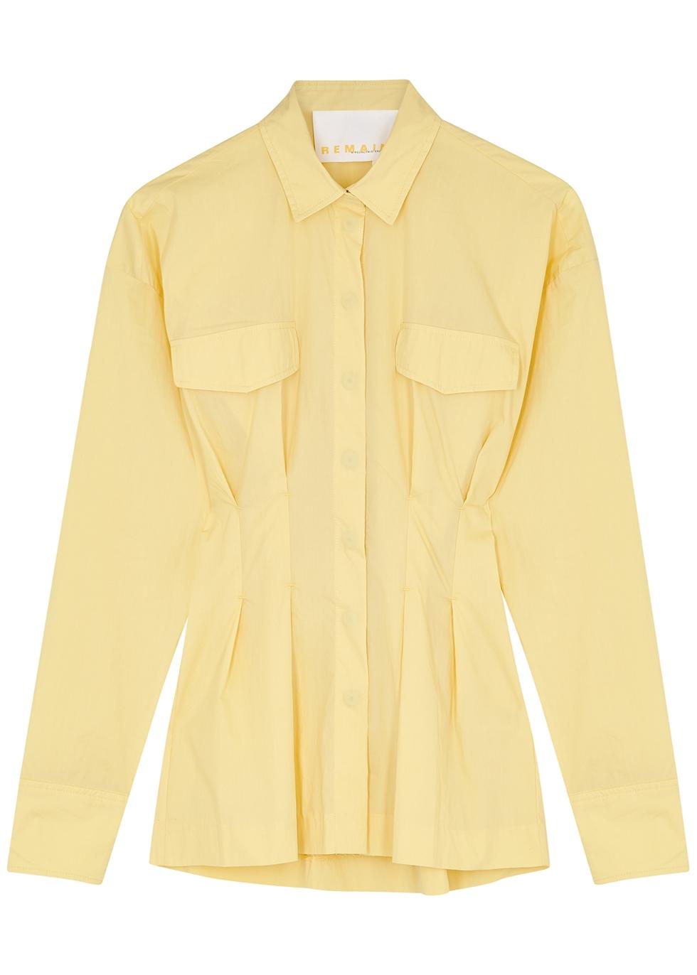 Charlotte yellow taffeta shirt