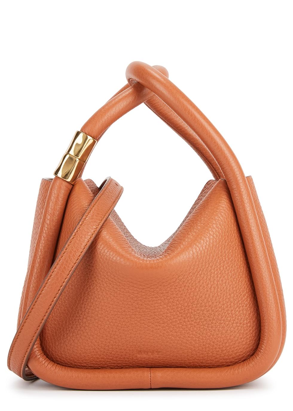 Wonton 20 Pebble leather top handle bag