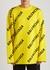 Yellow logo-intarsia cotton-blend jumper - Balenciaga
