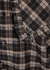 Checked lamé-weave seersucker shirt - Ganni