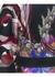 Black floral print silk satin kimono - MENG