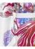 White floral print silk satin kimono - MENG