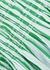 Striped cotton maxi dress - Ganni