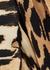 Leopard-print plissé georgette top - Ganni