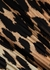 Leopard-print plissé georgette midi skirt - Ganni