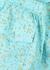 Blue floral-print cotton shorts - Ganni