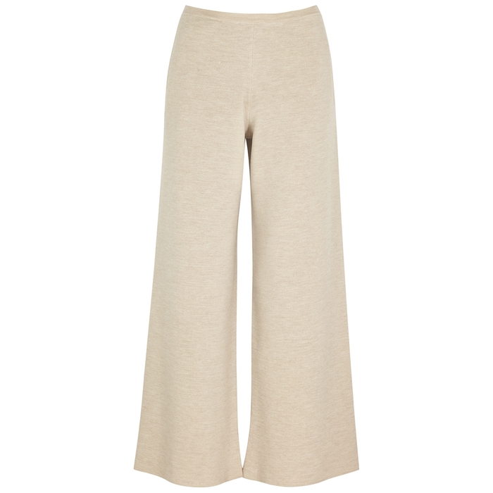 The Row CHUK WIDE-LEG WOOL-BLEND TROUSERS
