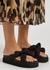 Black satin flatform sandals - Ganni