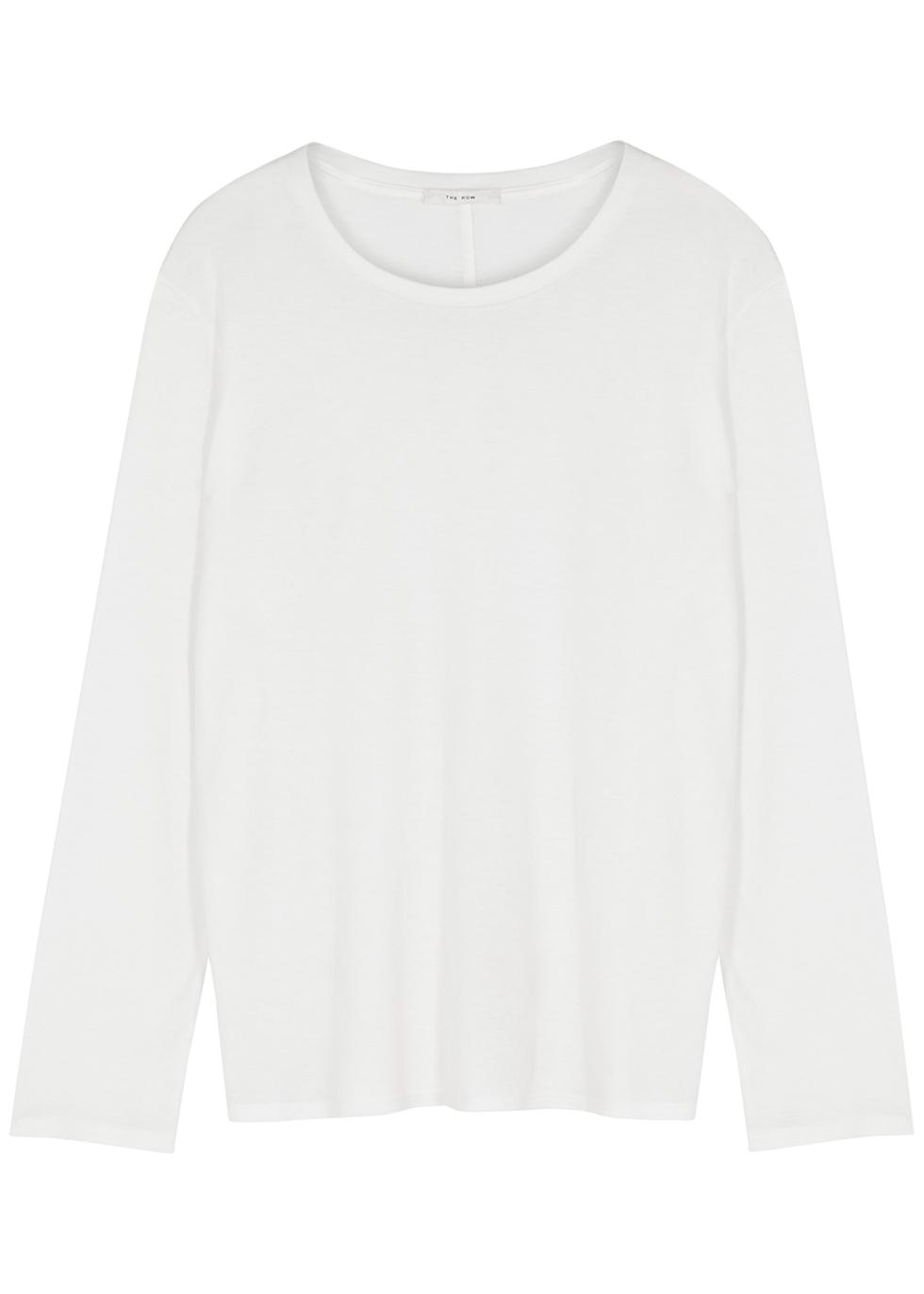 Sherman white Tencel-blend top