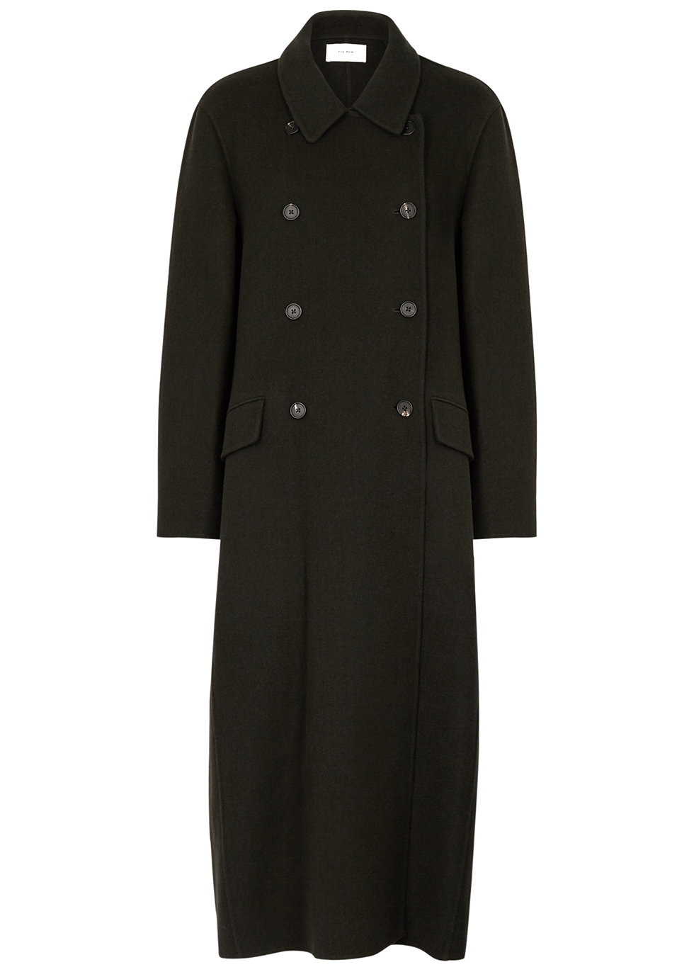 Dilona dark green cashmere-blend coat