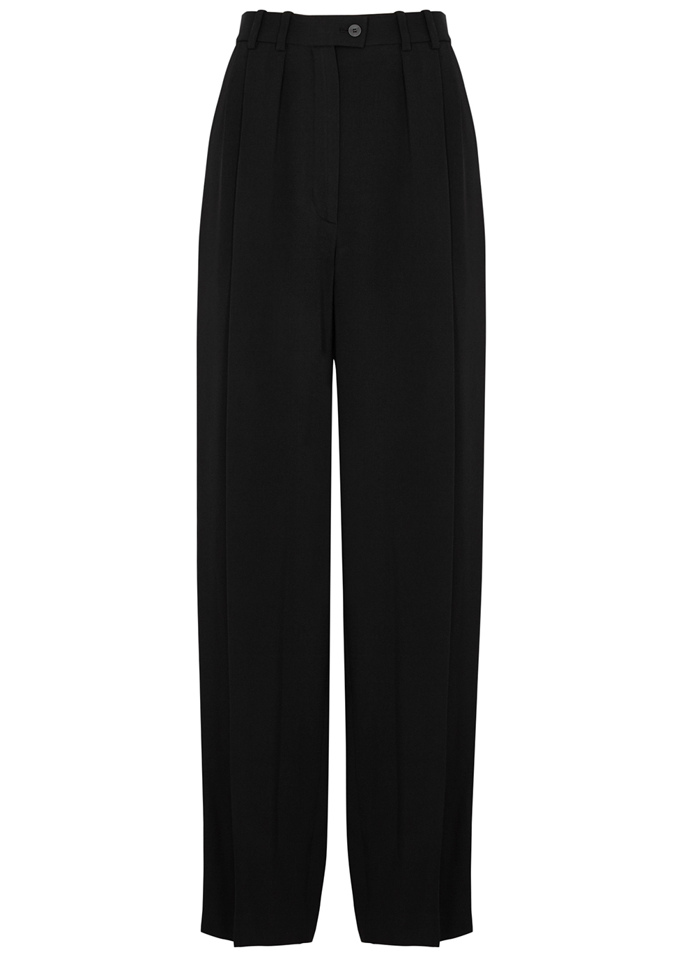 Lariana black tapered trousers