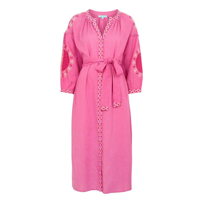 Melissa Odabash Dresses MELANIE EMBROIDERED COTTON-BLEND KAFTAN