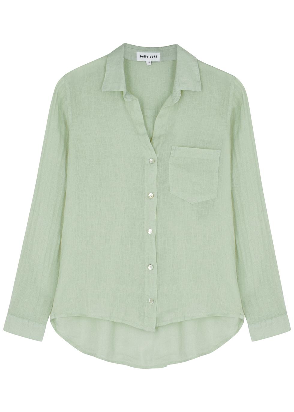 Sage linen shirt