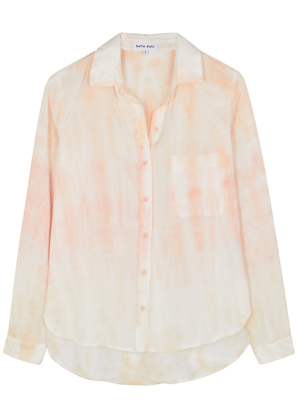 Tie-dyed Tencel shirt