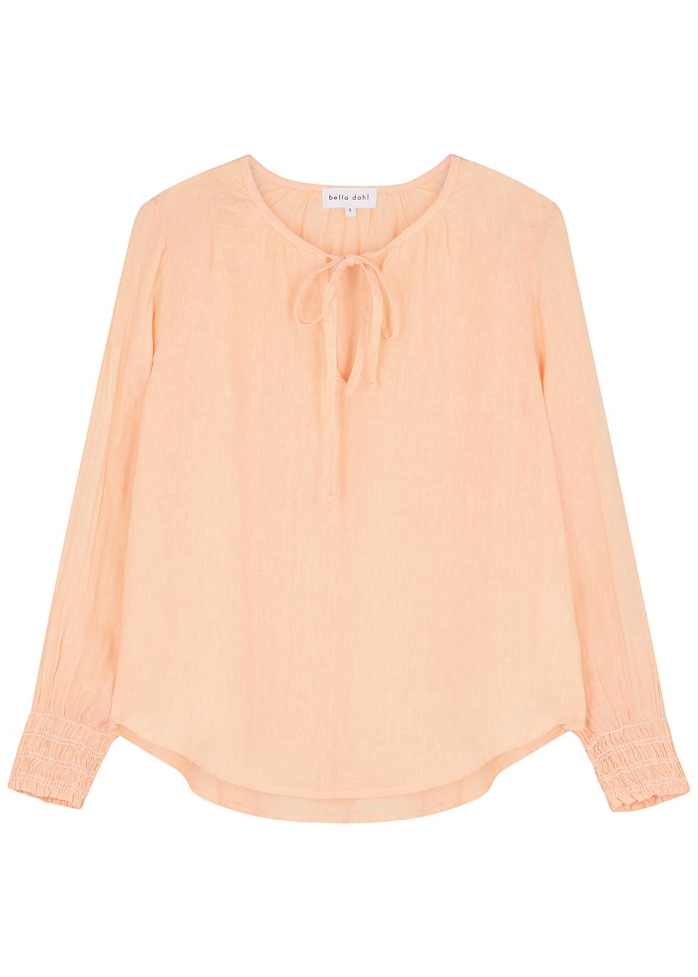 Peach linen blouse