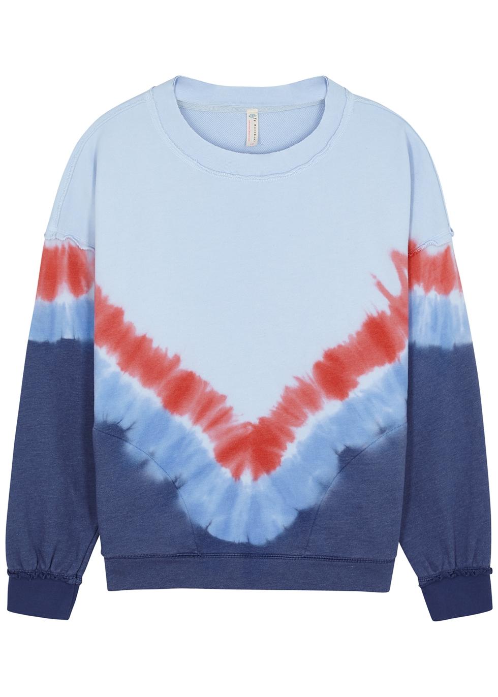 Metti tie-dyed cotton-blend sweatshirt