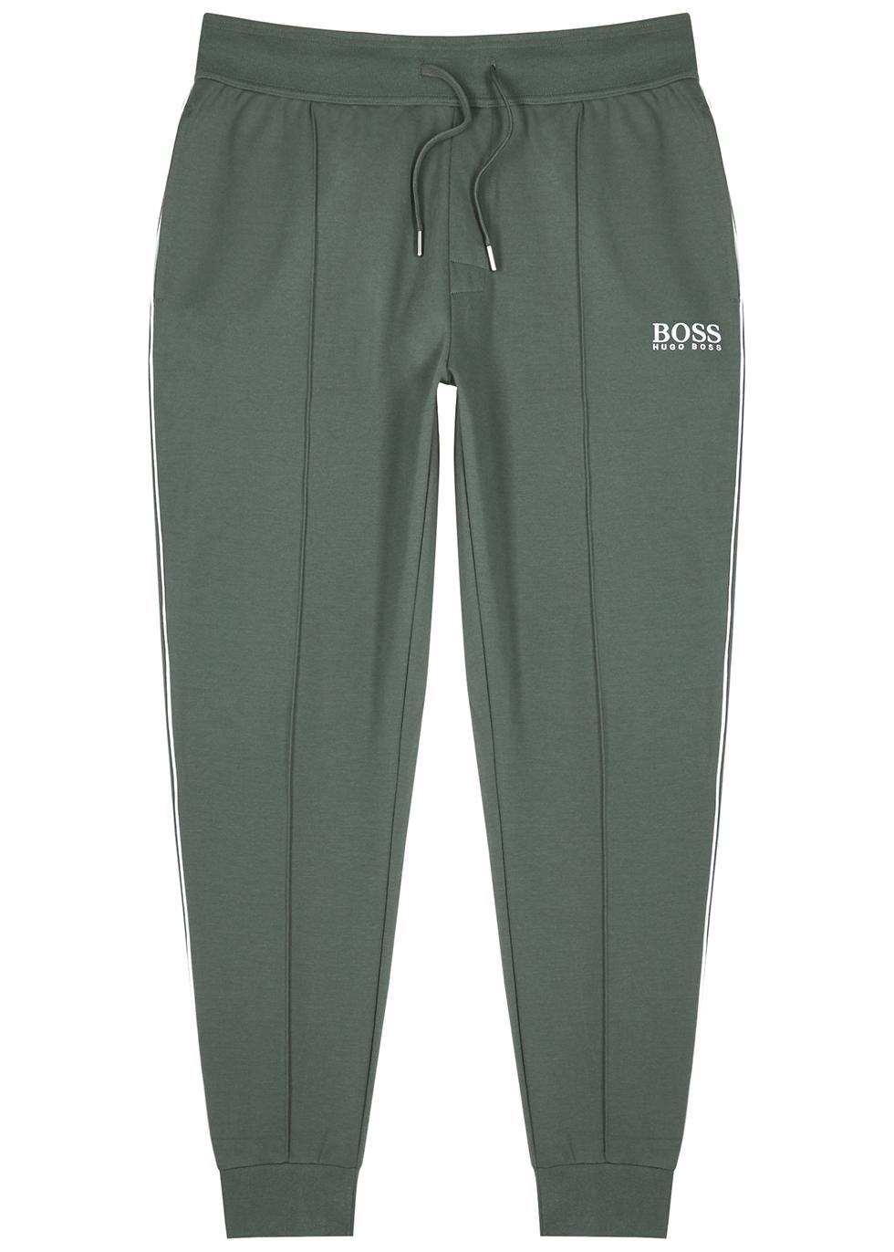 Green jersey sweatpants