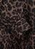 Yasi leopard-print linen-blend mini dress - Rebecca Vallance