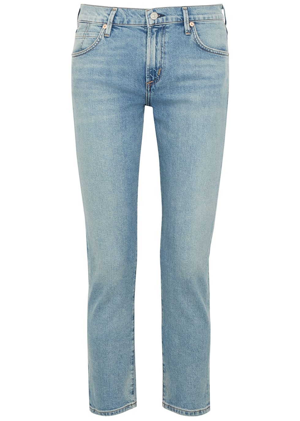 Elsa light blue cropped slim-leg jeans