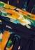 Navy floral-print chiffon midi dress - Boutique Moschino