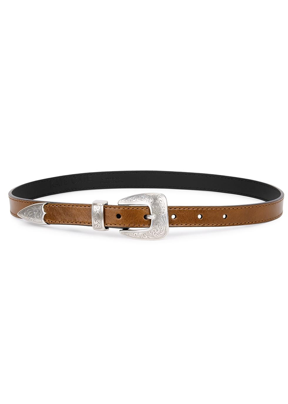 Kim brown leather belt