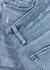 Jimmy Jimmy light blue stretch-denim shorts - Paige