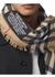 Logo graphic check cashmere large square scarf - Burberry