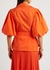 Waverley orange wrap-effect cotton-blend shirt - Jonathan Simkhai