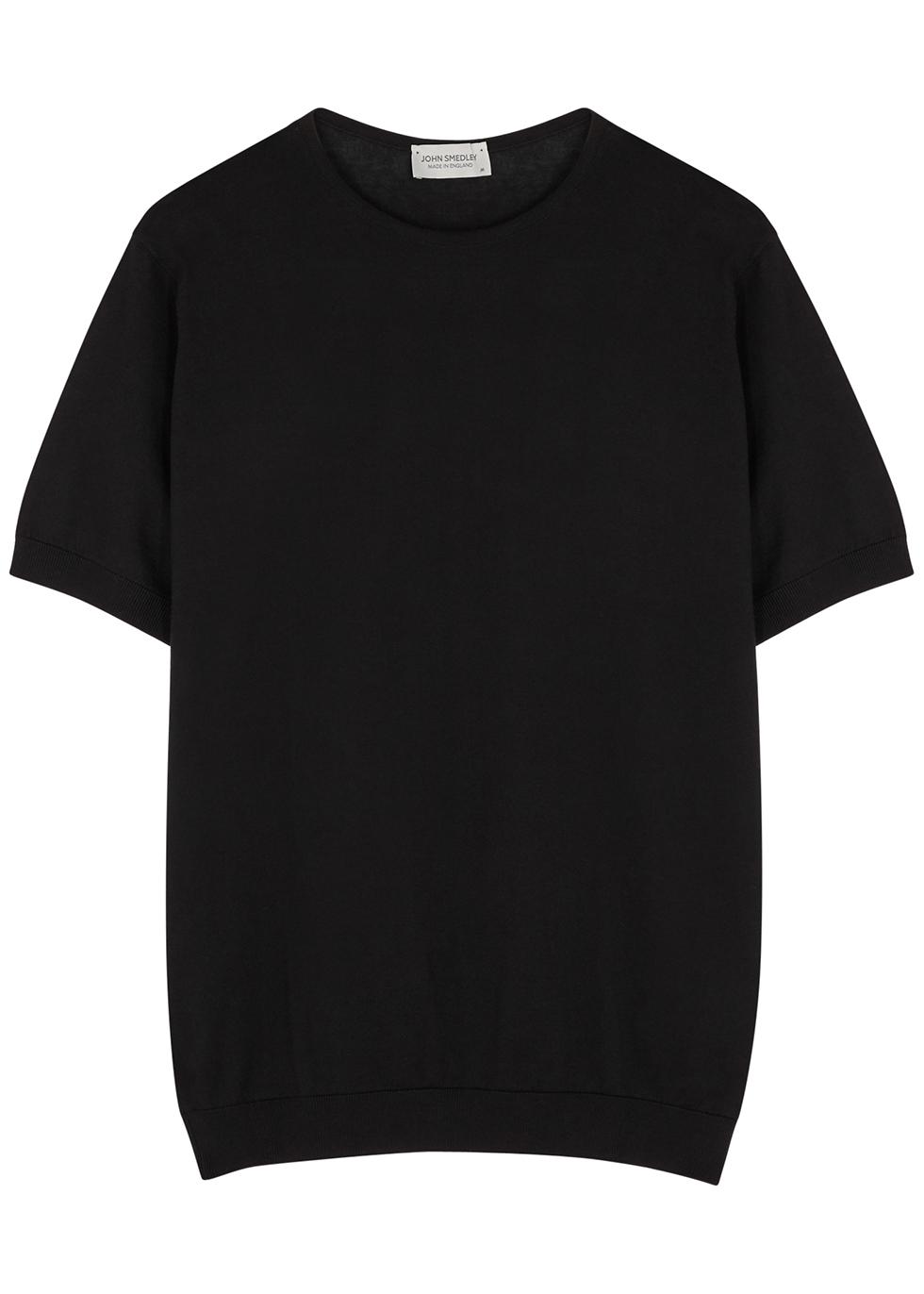 Belden black knitted cotton T-shirt