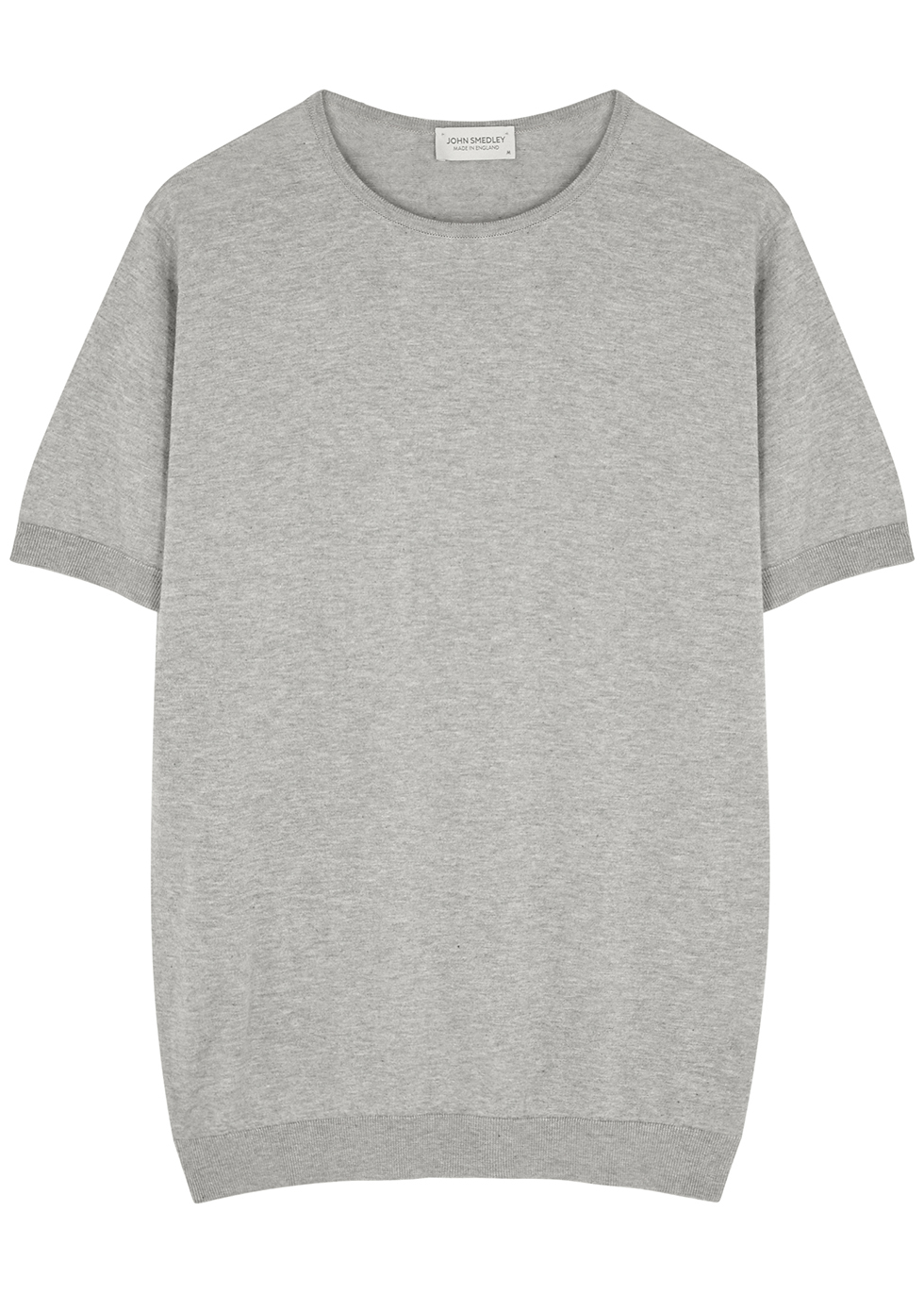 Belden grey knitted cotton T-shirt