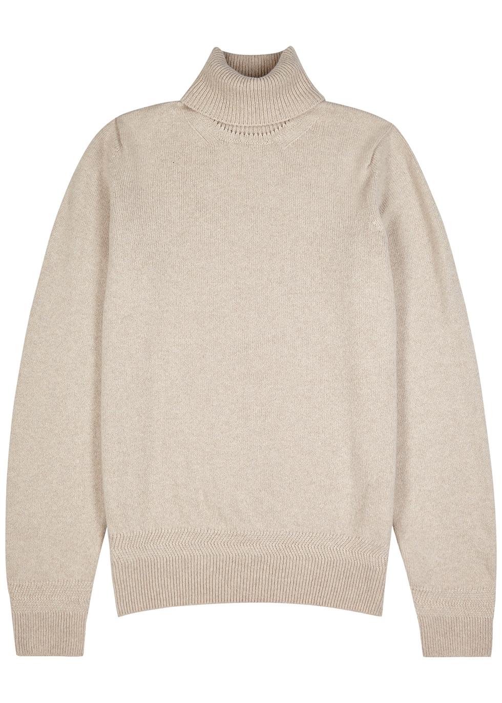 Kolton stone cashmere-blend jumper