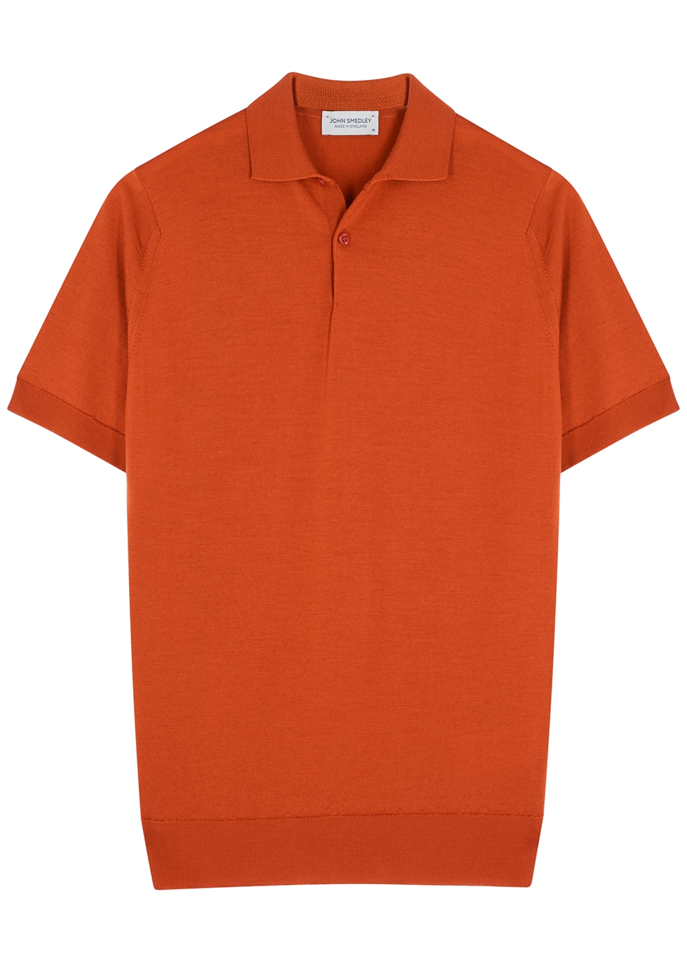 Payton rust merino wool polo shirt