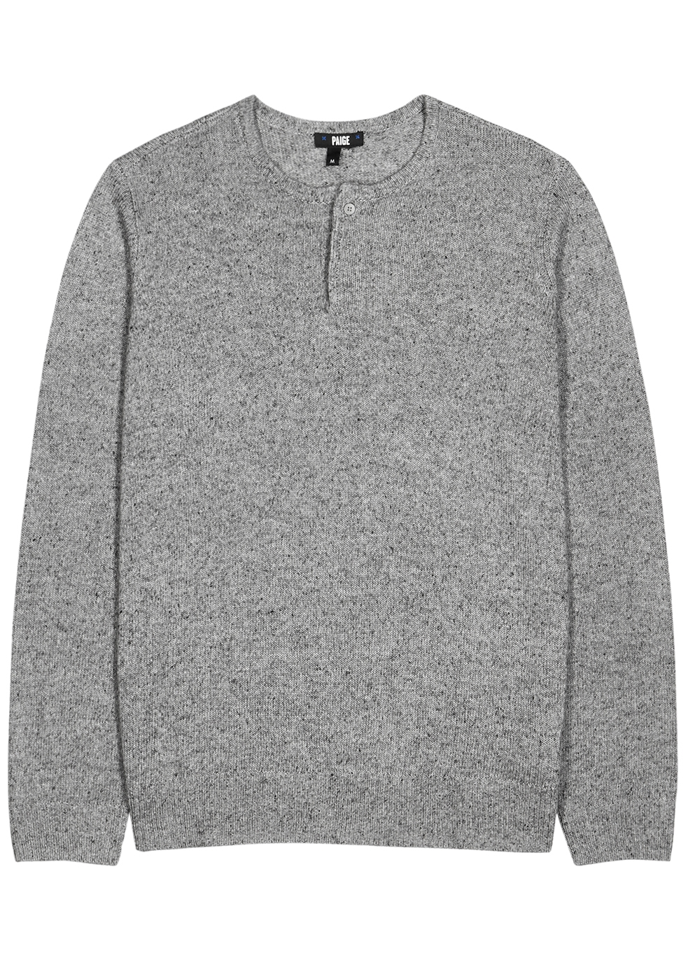 Henley grey knitted top