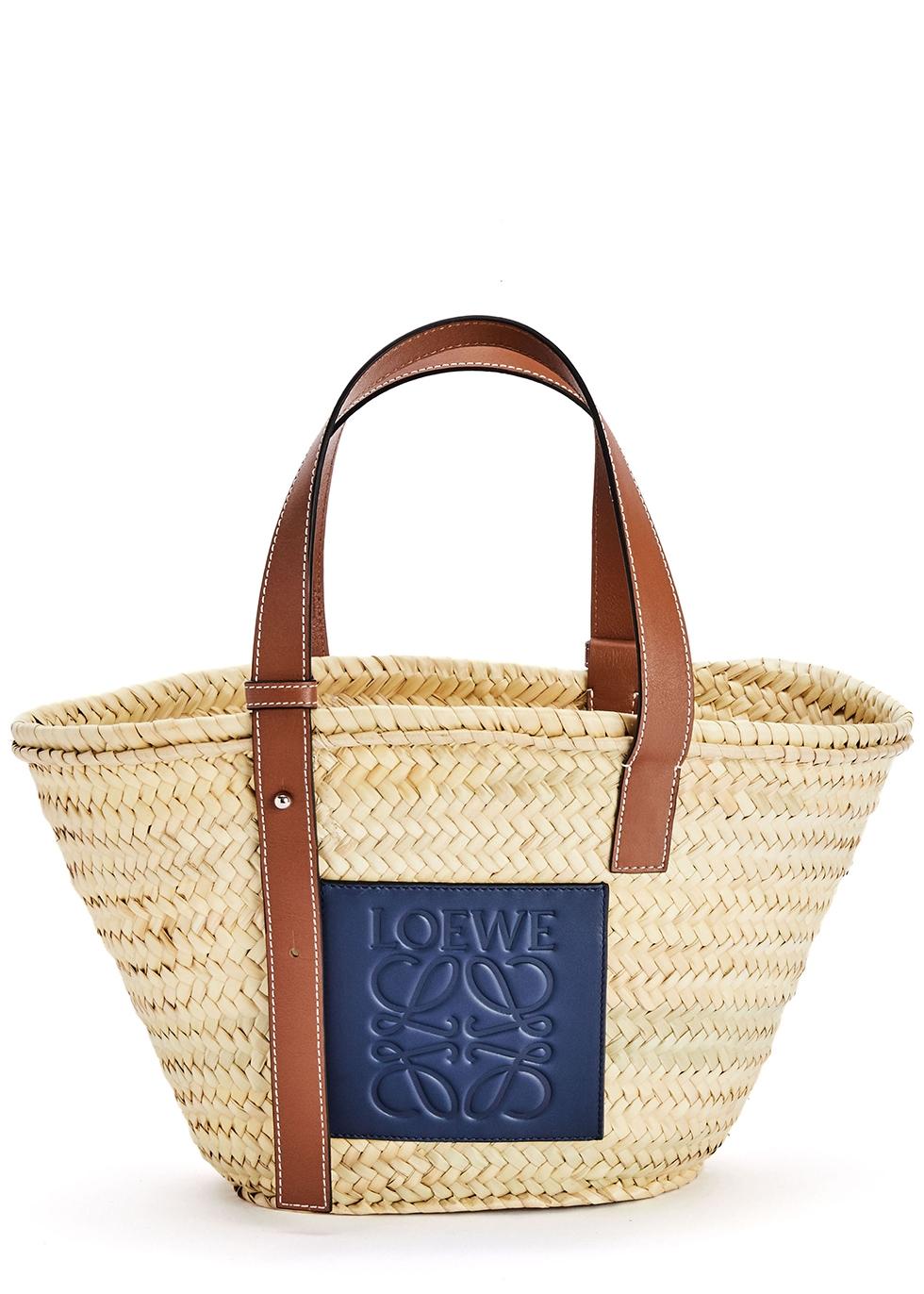 X Paula's Ibiza sand raffia basket bag
