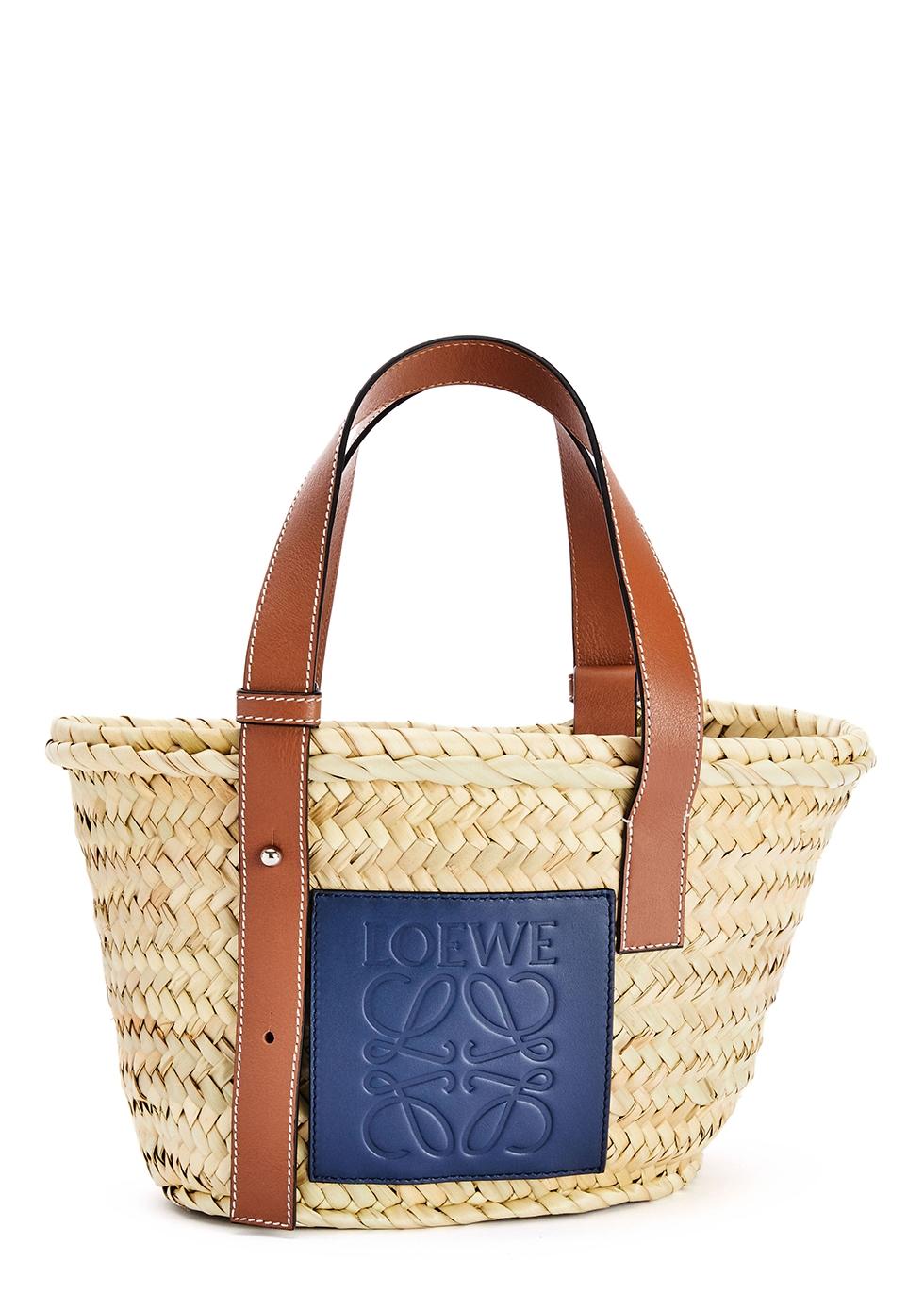 X Paula's Ibiza small sand raffia basket bag