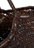 Nantucket dark brown woven leather tote - Dragon Diffusion