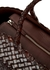 Lunch dark brown woven leather tote - Dragon Diffusion