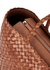 Lunch brown woven leather tote - Dragon Diffusion