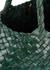 Santa Croce dark green woven leather tote - Dragon Diffusion