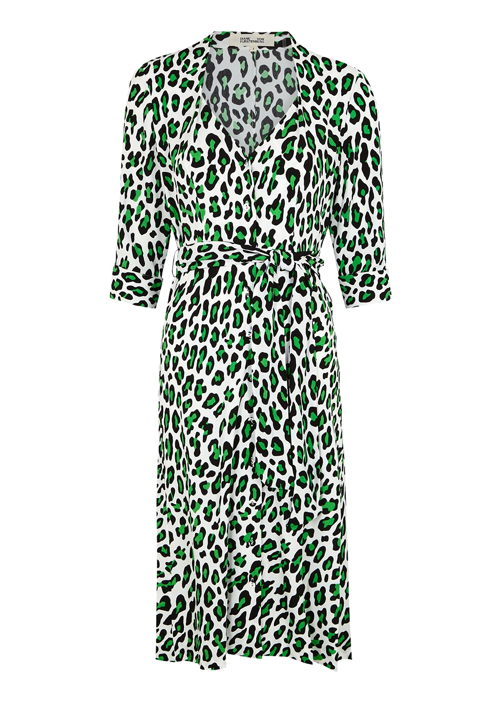 Judith leopard-print midi dress