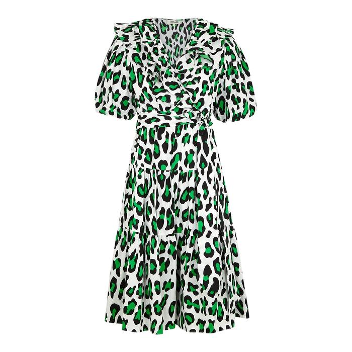 Diane Von Furstenberg Mini dresses DIANE VON FURSTENBERG HIRITA LEOPARD-PRINT COTTON WRAP DRESS