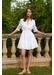 White cotton ruffle dress - Paolita