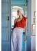 White nautical trouser - Paolita