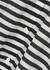 Bibo monochrome striped cotton-blend shirt dress - Max Mara Beachwear