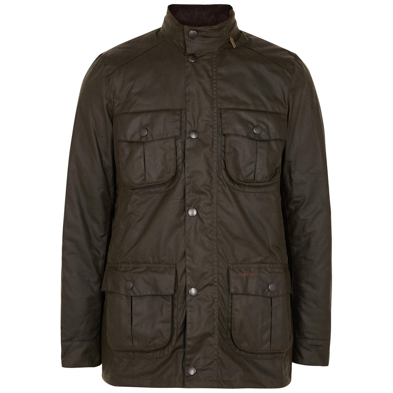 Corbridge dark olive waxed cotton jacket