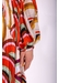Geometric fathomless midi dress in red and brown - Traffic People